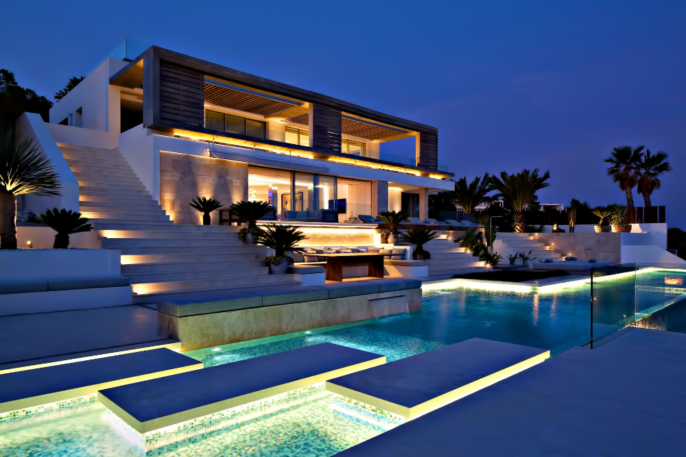Villa Roca Llisa Ibiza Google Search Diseno De Villa Iluminacion De Fachada Casas De Lujo