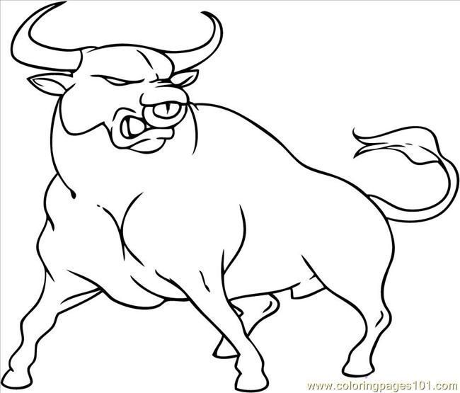 bull coloring pages To Draw A Cartoon Bull Coloring Page   Free Bull Coloring Pages  bull coloring pages
