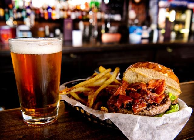 Dempsey's Hot Hawaiian Kobe burger, shown here with a