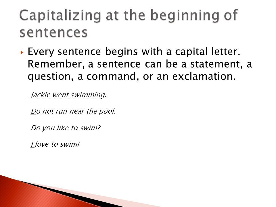 Image result for Image of' Every sentence begins with a