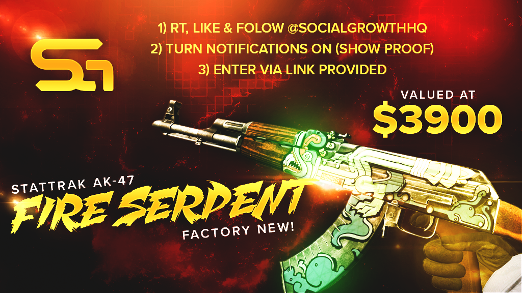 Stattrak Factory New Fire Serpent Giveaway Fire Serpent Giveaway Contest