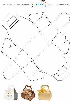 Paper Purse Box Template Box Templates  Doll Food Printables A