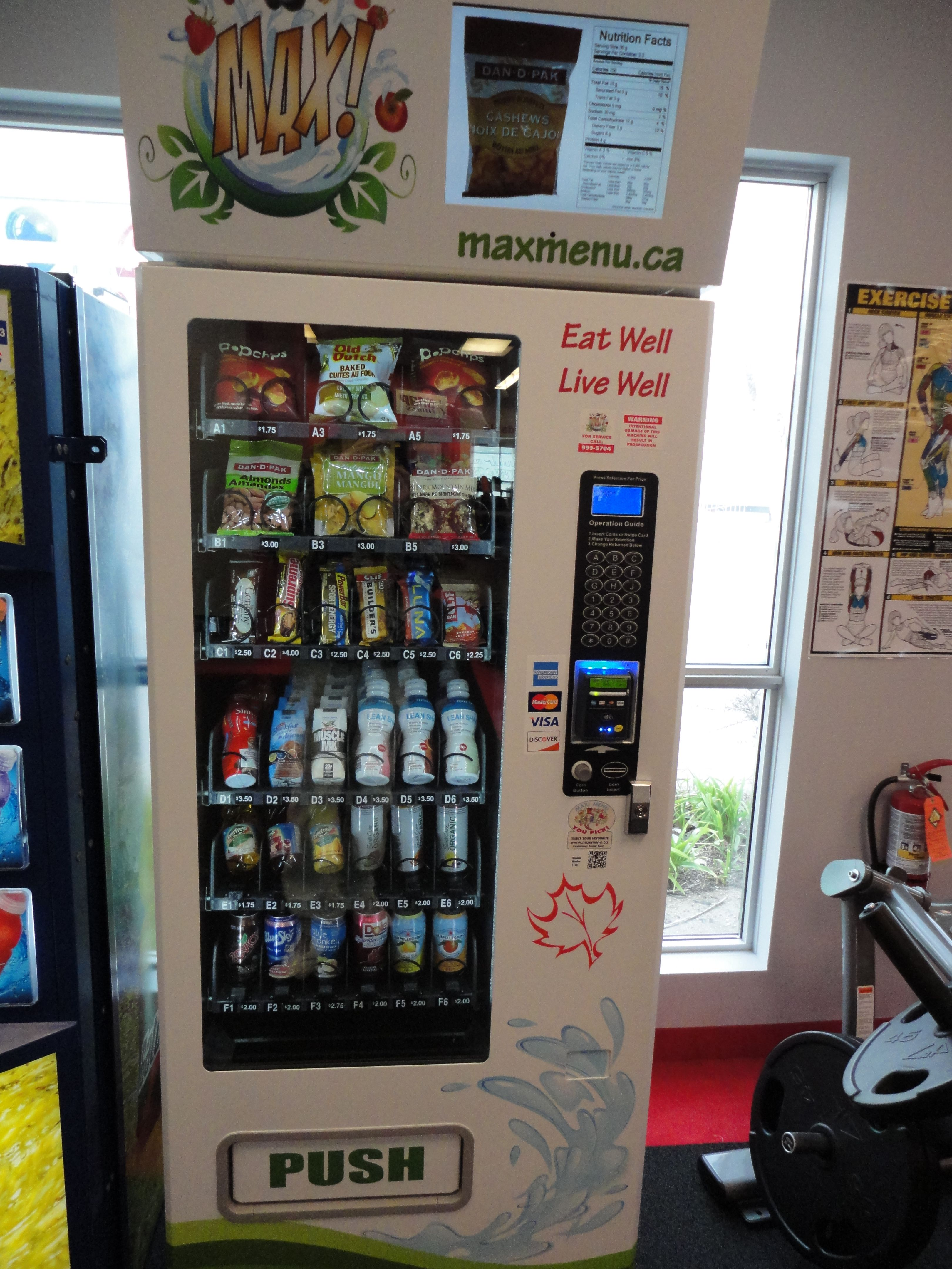 State of the art vending machines filled with Healthy Drinks and ...