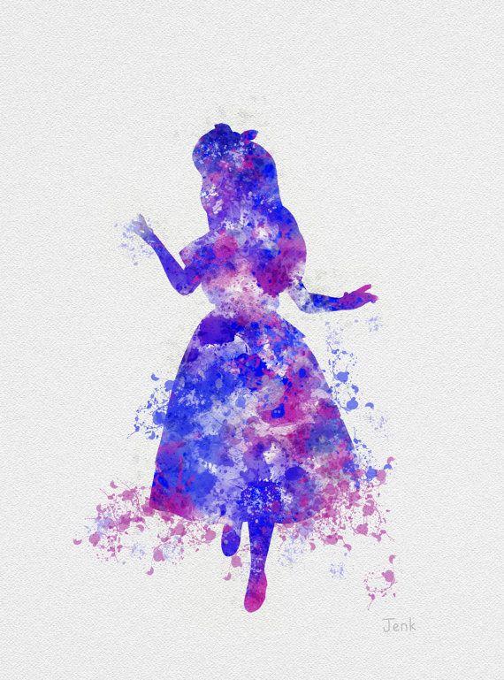 Alice In Wonderland Art Print 10 X 8 Quot Illustration Disney