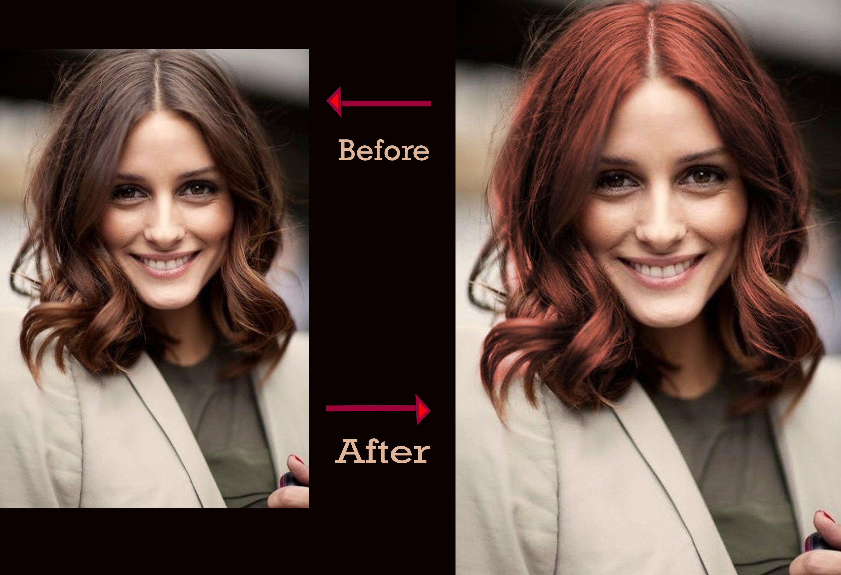 How To Change Haircolor With Photoshop In 10 Steps Change Hair Color Change Hair Hair Color