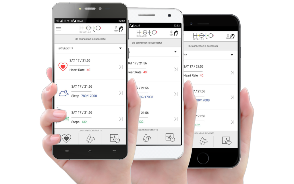 Helo comes with a free app to measure and monitor all your