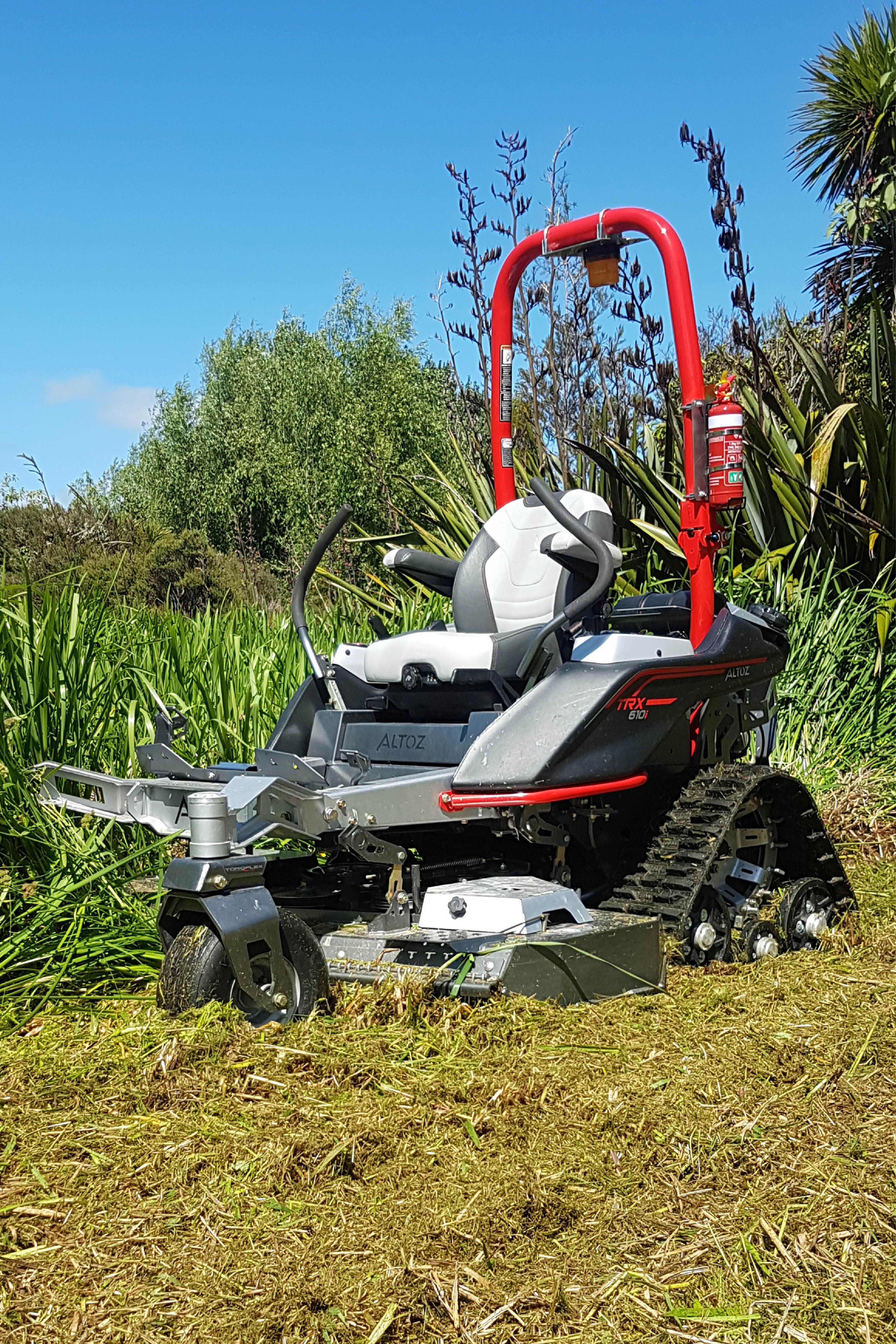 Altoz Trx Tracked Zero Turn Mower With All Terrain Deck Zero Turn Mowers Zero Turn Lawn Mowers Mower