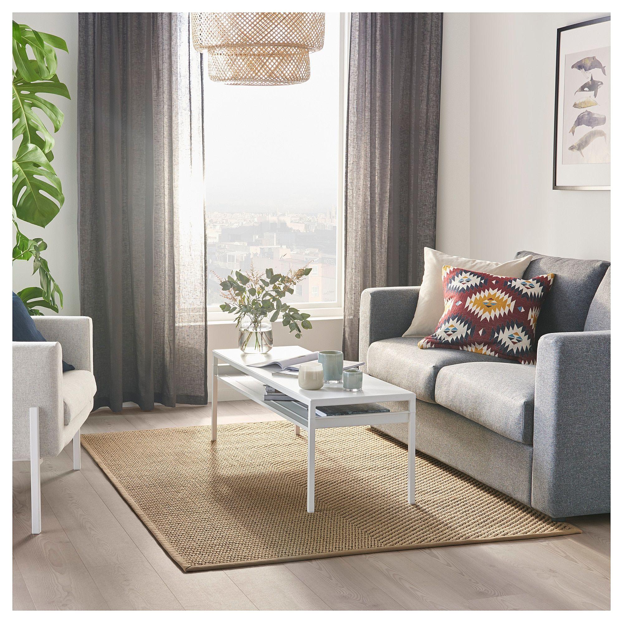 Rideau Gris Perle Ikea hellested tapis tissé à plat - naturel, brun 133x195 cm