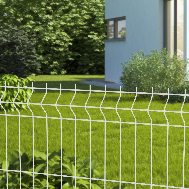 Grillage Rigide Soude Naterial Blanc H 0 62 X L 2 48m Maille 200x55mm Grillage Rigide Soude Et Pose Grillage