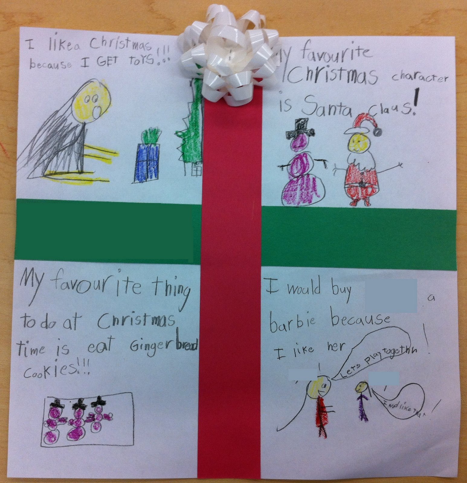 Block4 Sequencing Cute Christmas Writing Activity