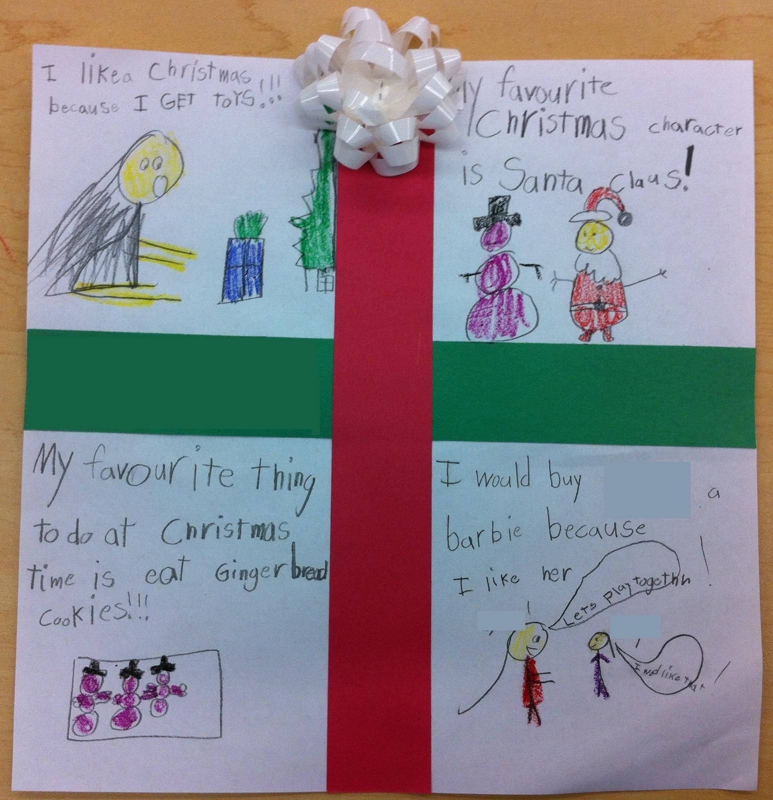 Cute Christmas Writing Activity