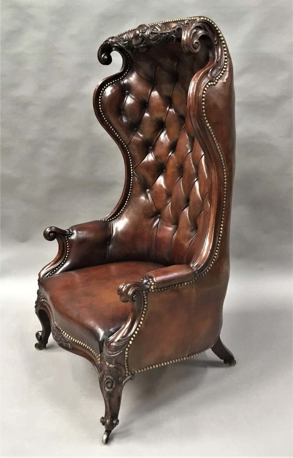 Best Victorian Mahogany And Leather Hall Porters Chair Wing Chair Porter Chair Wing Chair Chair 400 x 300