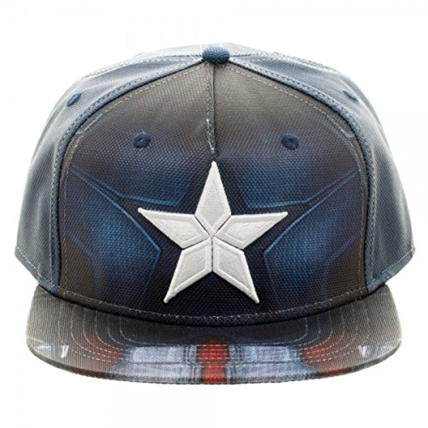 Bioworld Marvel Comics Civil War Snapback Hat Cap One Size- Captain America 51fa6a34012f