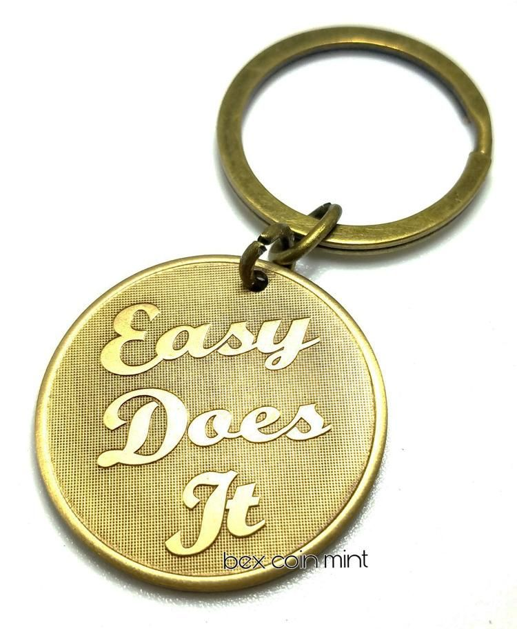 Easy Does It Sobriety Key Chain | Sobriety AA Coins, Quotes