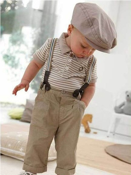 Boy Baby Clothes Toddler Set Gentleman Overalls 2pcs Outfit Top Bib