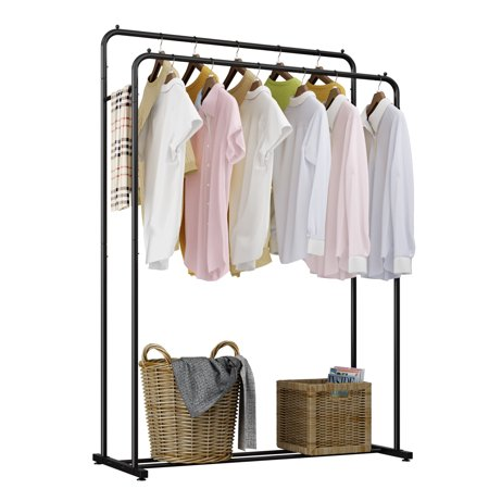 Rackaphile Heavy Duty Double Rod Clothing Garment Rack Commercial