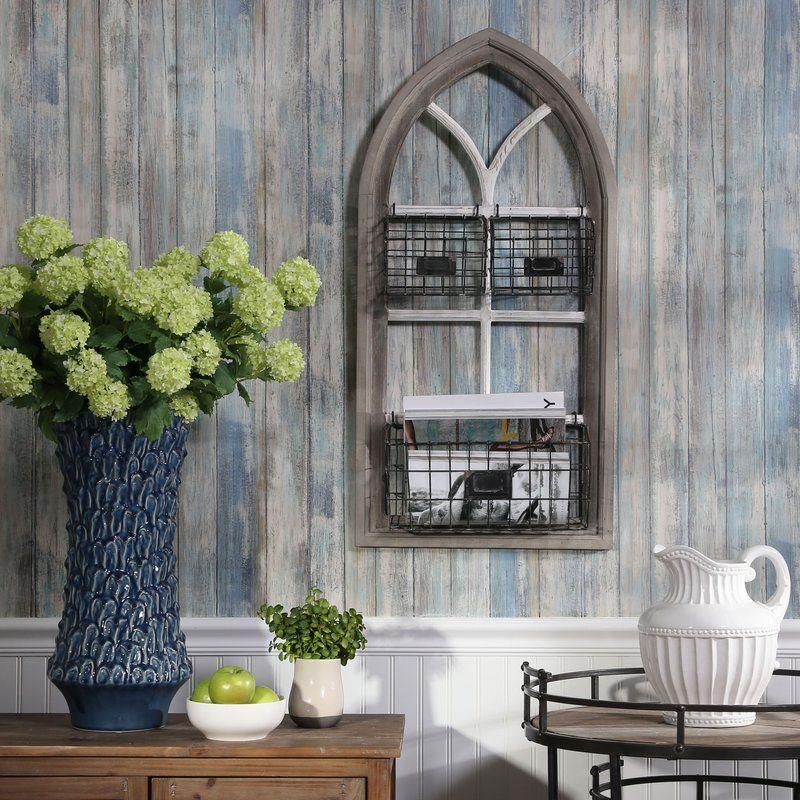 Gothic Wood Organizer Wall Décor Floor Vase Decor Photo Wall Decor Wood Living Room Decor