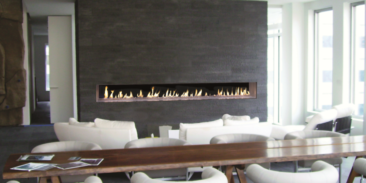 Gas Fireplace linear gas fireplace : DaVinci Custom Linear Gas Fireplace property photo | fireplace ...
