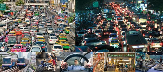 Traffic Jam at Bangkok (source of NO and So2, O3)