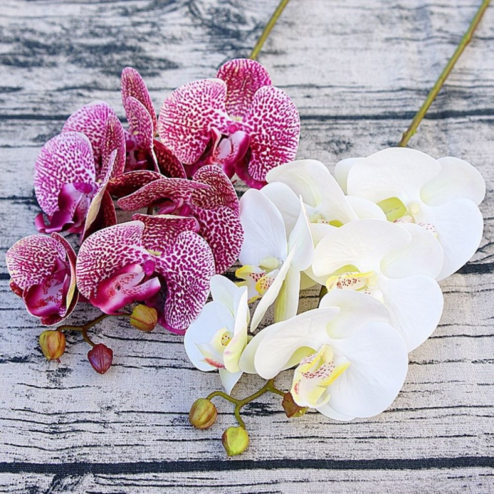 3d Artificial Butterfly Orchid Flowers Fake Moth Flor Orchid Flower For Home Wedding Diy Decoration Real Touch Home Decor Flore Fake Flowers Wedding Orchid Flower Artificial Silk Flowers