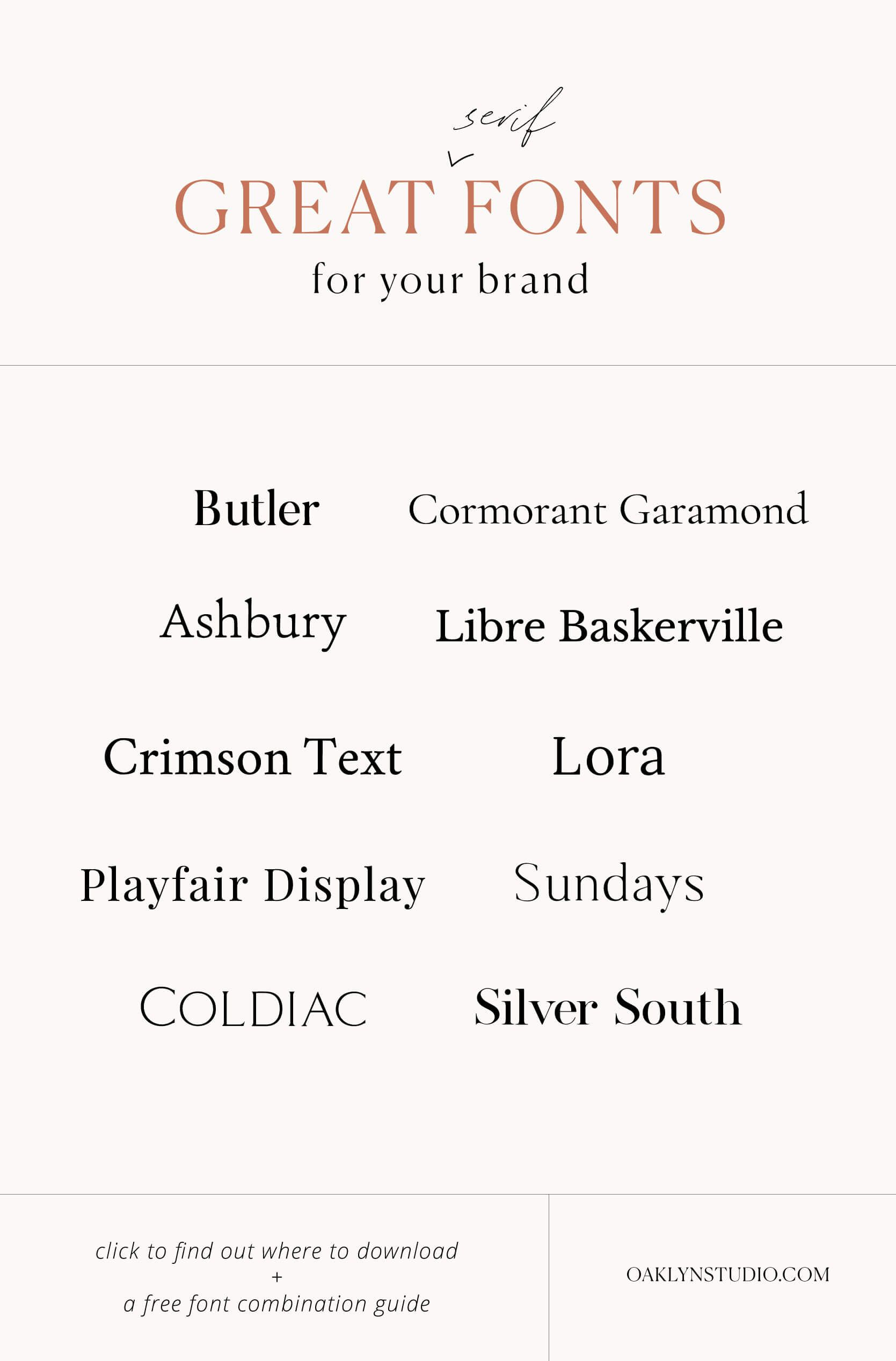 Great Serif Fonts for Your Brand + grab a free