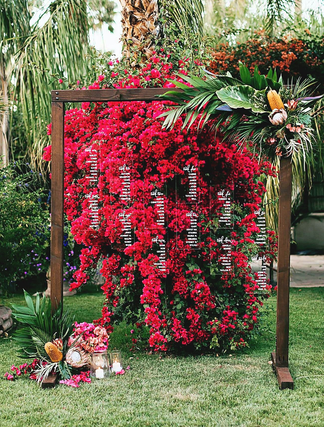 Wedding Receptions Plans Don T Be Fearful About Letting Others Assist Along With Your Wedding Bougainvillea Wedding Lush Wedding Bougainvillea