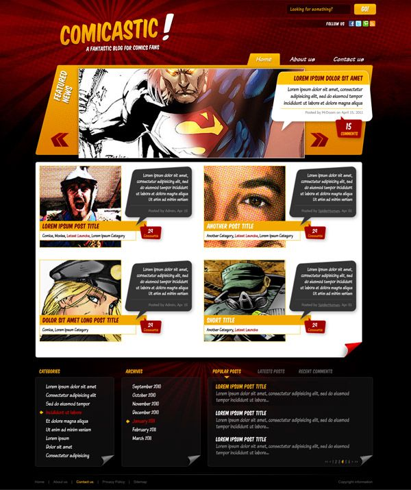 Create A Comic Book Themed Web Design Photoshop To Html Css Part