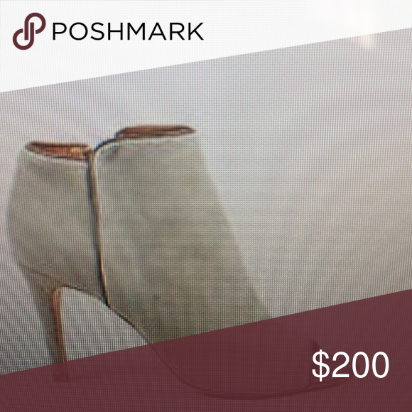Iso joie gray suede gwen peep toe bootie In good condition Joie Shoes Ankle Boots & Booties