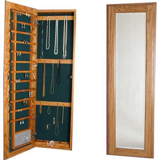 tall recessed storage cabinet Jewelry Solutions Large Wood Jewelry