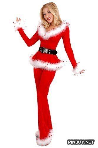 56b48c6d1 Womens/Miss Sexy Party Fancy Velvet Pants Xmas Santa Claus Costume Outfit - Christmas  Dress Costume