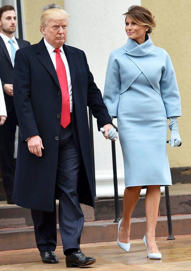 Image result for melania trump inauguration coat