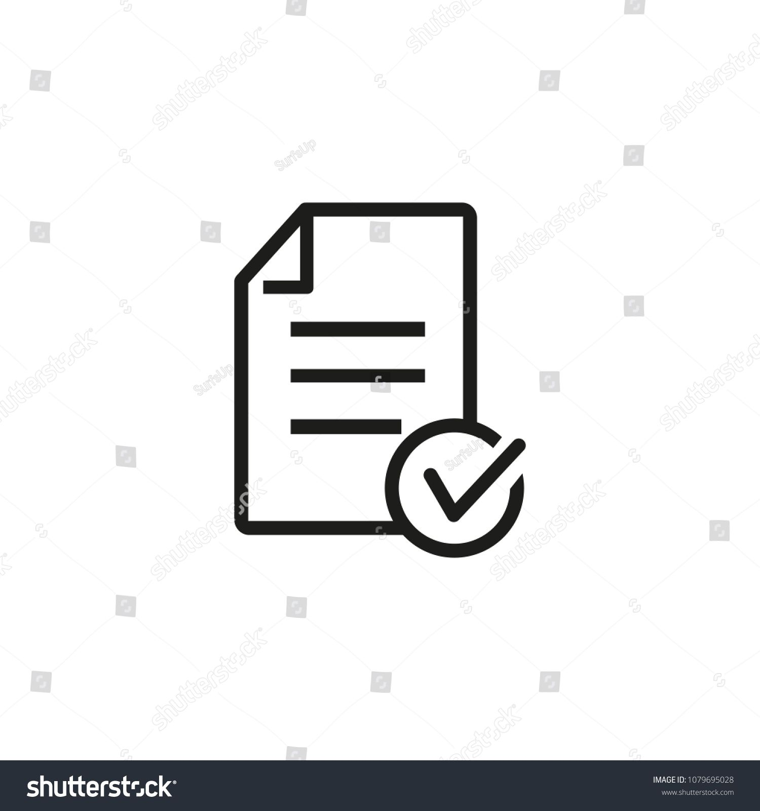 Icon Of Approved Loan Checklist File Document Paperwork Concept Can Be Used For Topics Like Qualification Business Find Icons Flyer Template Logo Design