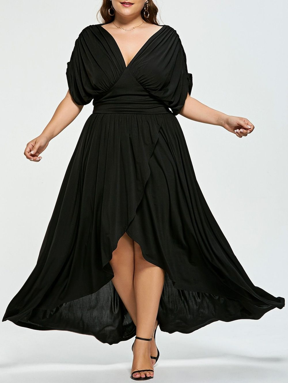 Empire Wasit Plus Size High Low Prom Dress in 2020 | High ...