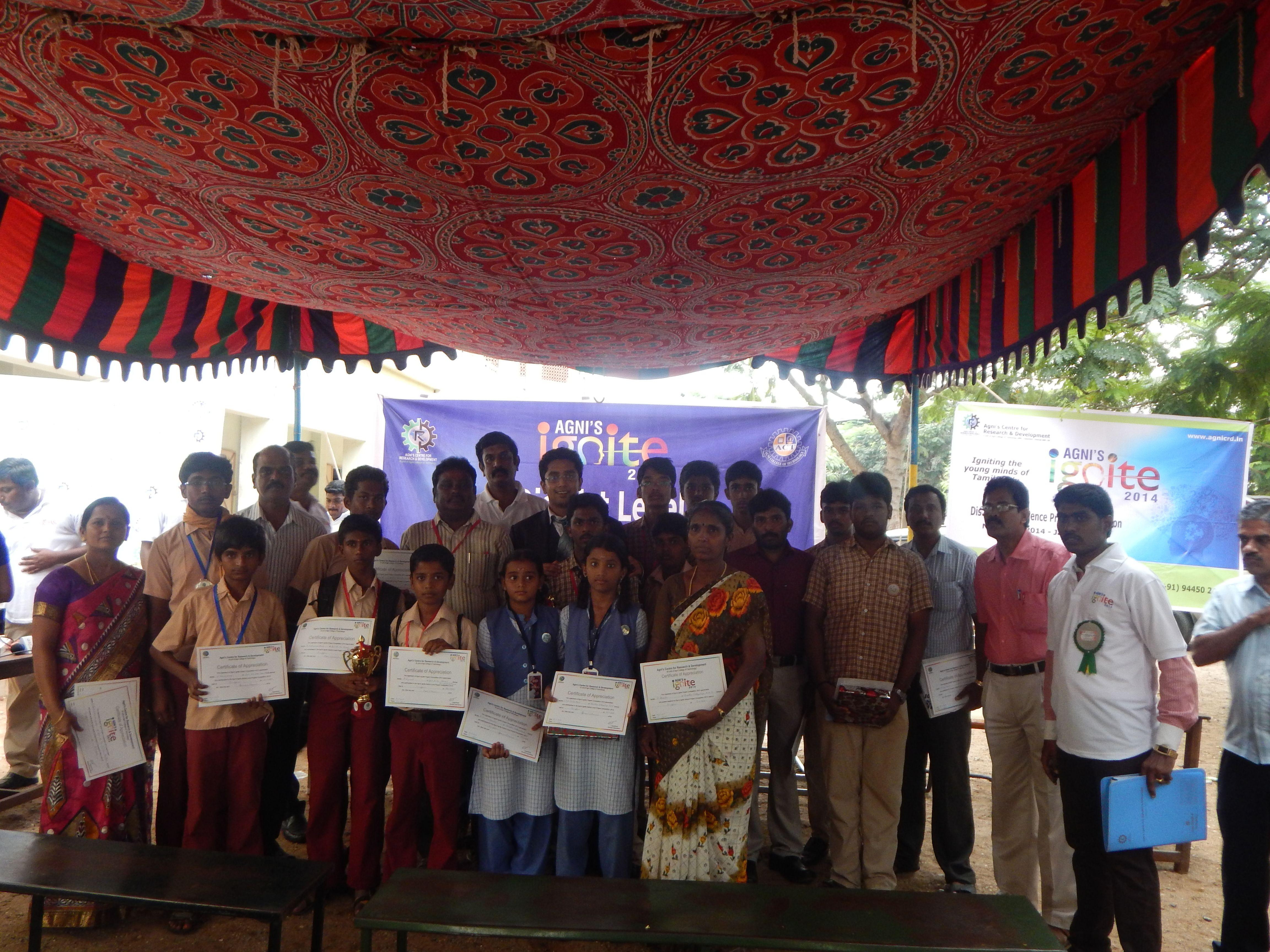 Agni's Ignite-2nd District Level Event-Thirupur,13/11/2014