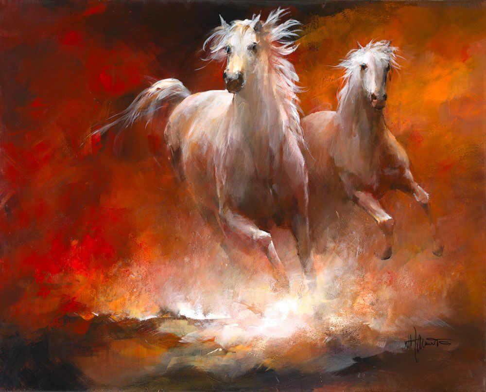 Souvent Peinture de chevaux au galop | abstract art | Pinterest  FH52