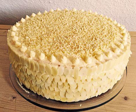 Alte schlesische Pudding - Buttercreme - Torte #apfelrosenblätterteig