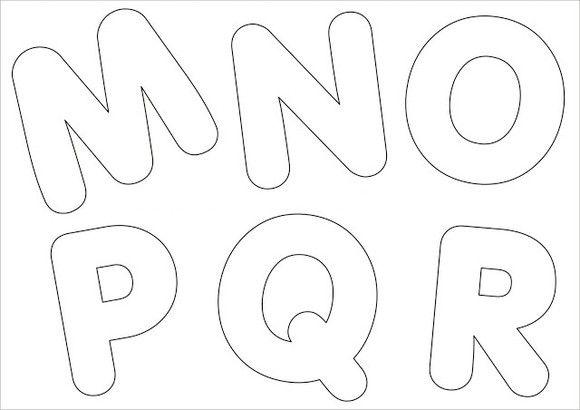 Resultado de imagem para molde letras eva