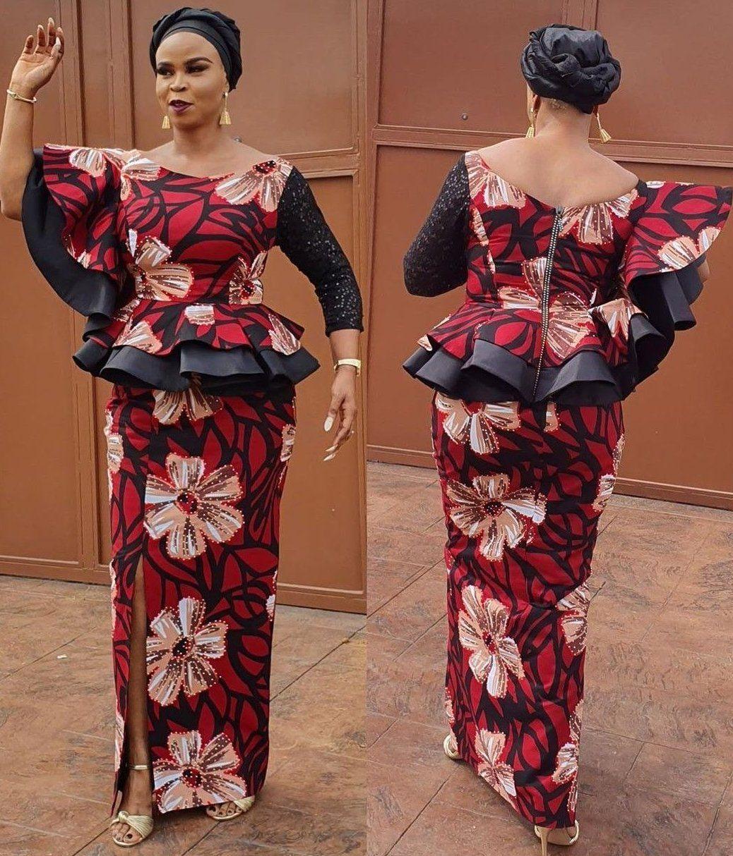 ankara skirt and blouse 2020