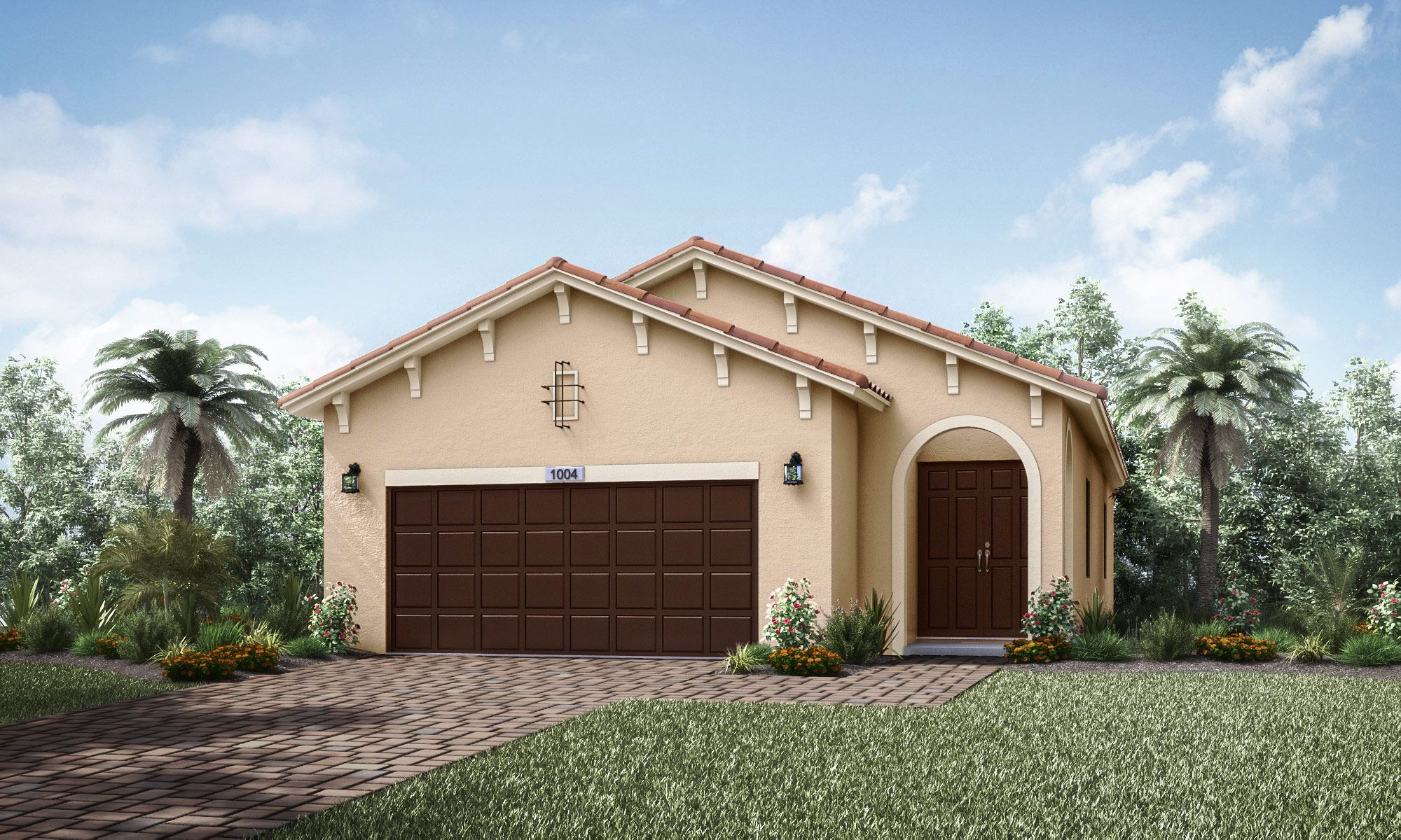 Baxter One Story House In Tamarac Manor Parc 13th Floor Homes Manor Parc S Baxter Model Home In Tamarac Fl Has A 1 627 Sq Model Homes Home Home Builders