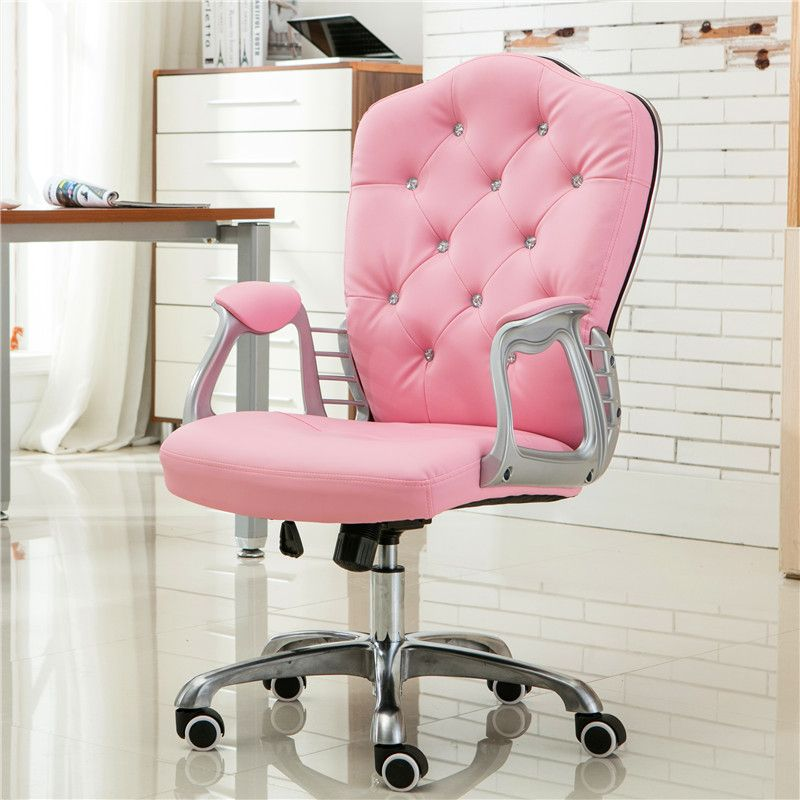pink office chair #pink desk chair #pink tufted chair #pink tufted