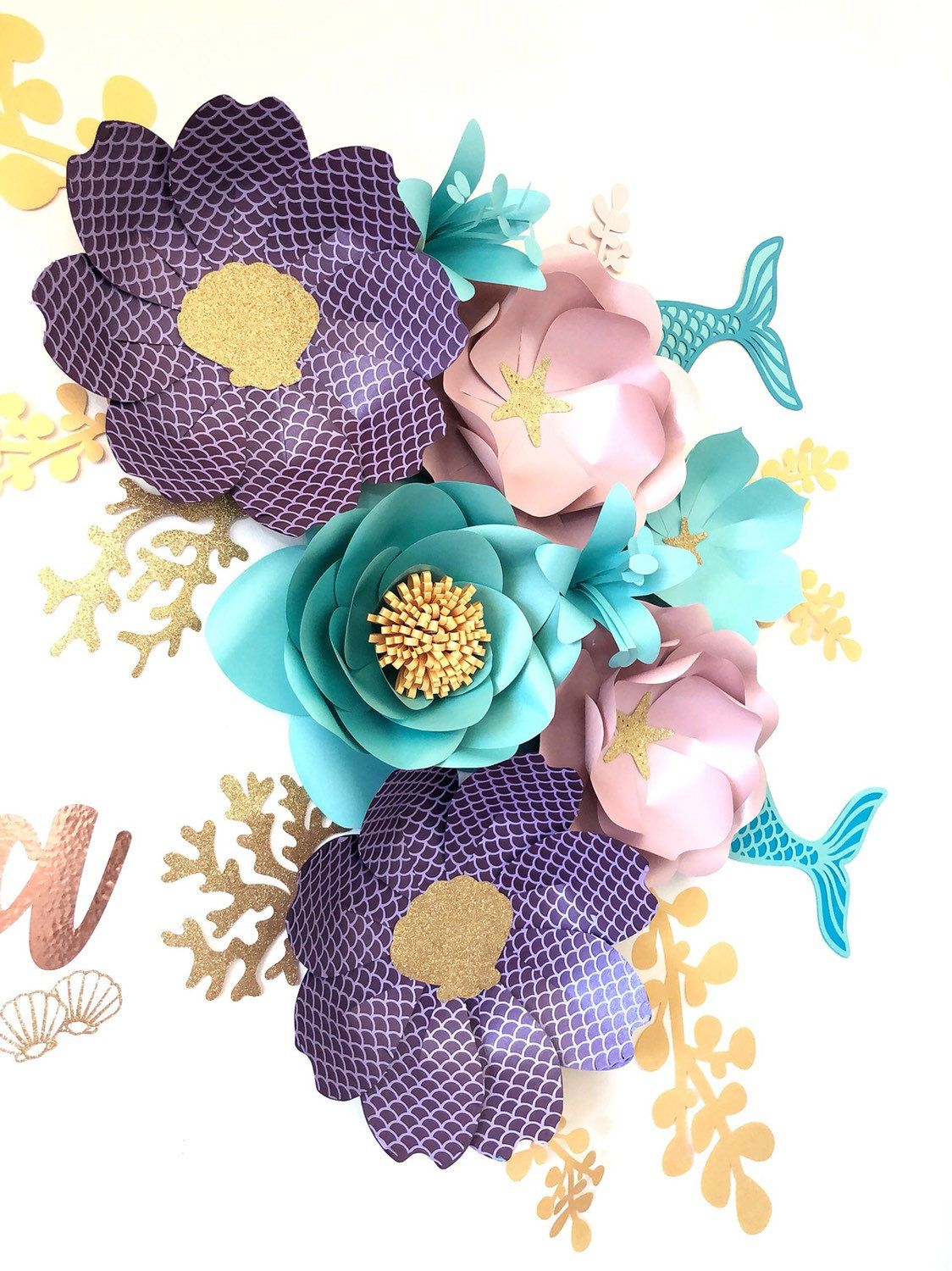 Mermaid Inspired Paperflowers Under The Sea Paperflowers Nursery