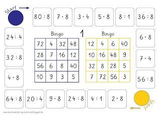 lernst bchen bingo multiplizieren und dividieren mathe spiele mathe brettspiele. Black Bedroom Furniture Sets. Home Design Ideas