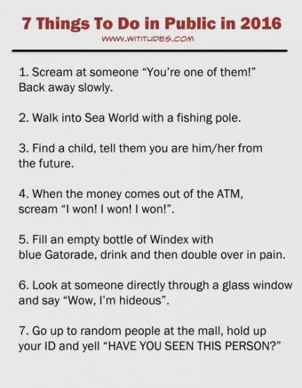 Best Funny Pranks Funny Things To Do In Public Bucket Lists 27 Super Ideas Funny Things To Do In Public Bucket Lists 27 Super Ideas #funny 2