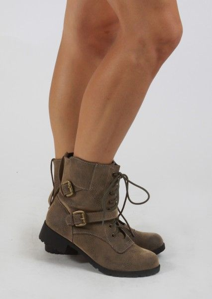 Short Combat Boots With Buckles #iwant | Fashion | Pinterest ...