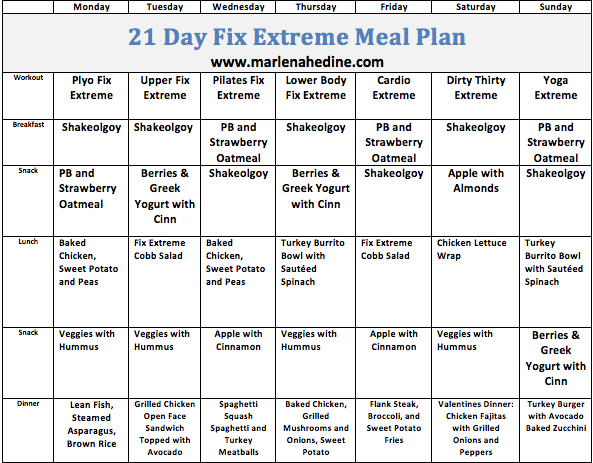 meal plan for extreme weight loss