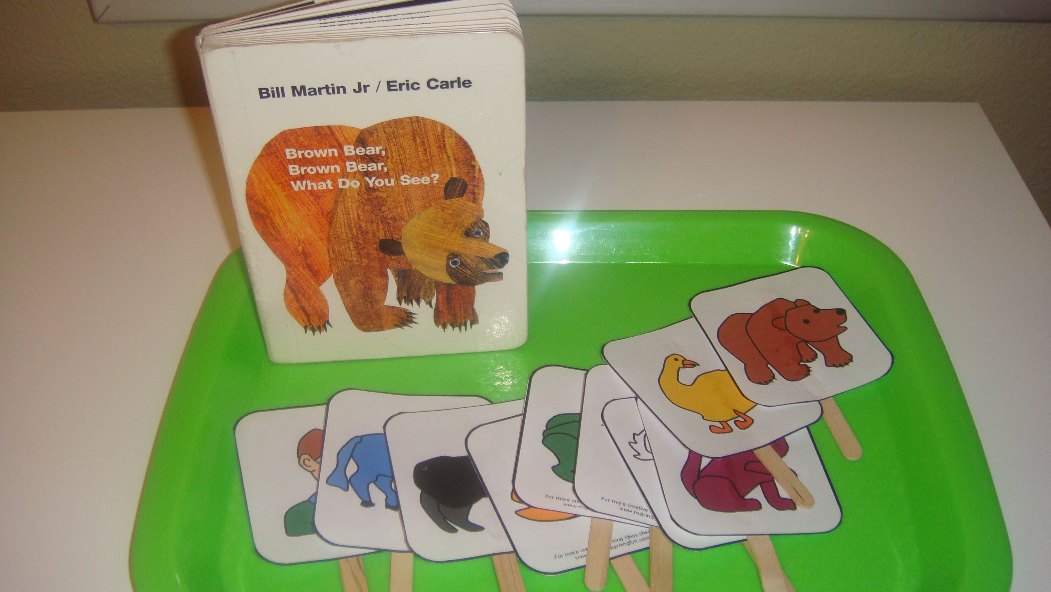 Toddler School Tray: Brown Bear Brown Bear What Do You See- Story ...