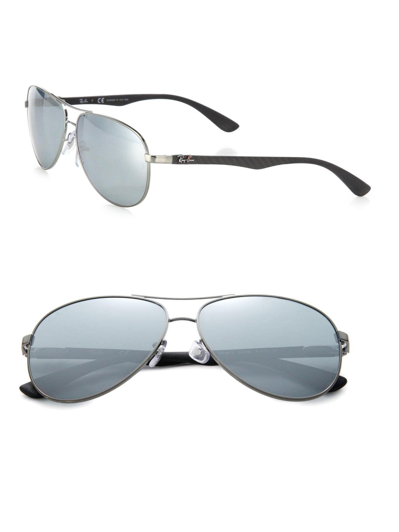 dbc17873553d9 Men s Metallic Pilot 61mm Mirrored Sunglasses