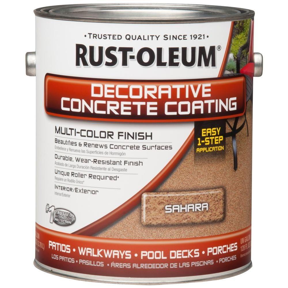 Rust Oleum Concrete Stain 1 Gal Sahara Decorative