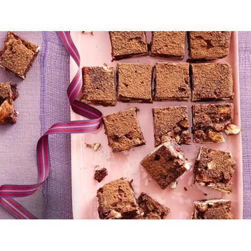 Choc, coconut and cranberry no-bake slice recipe - By Good Food