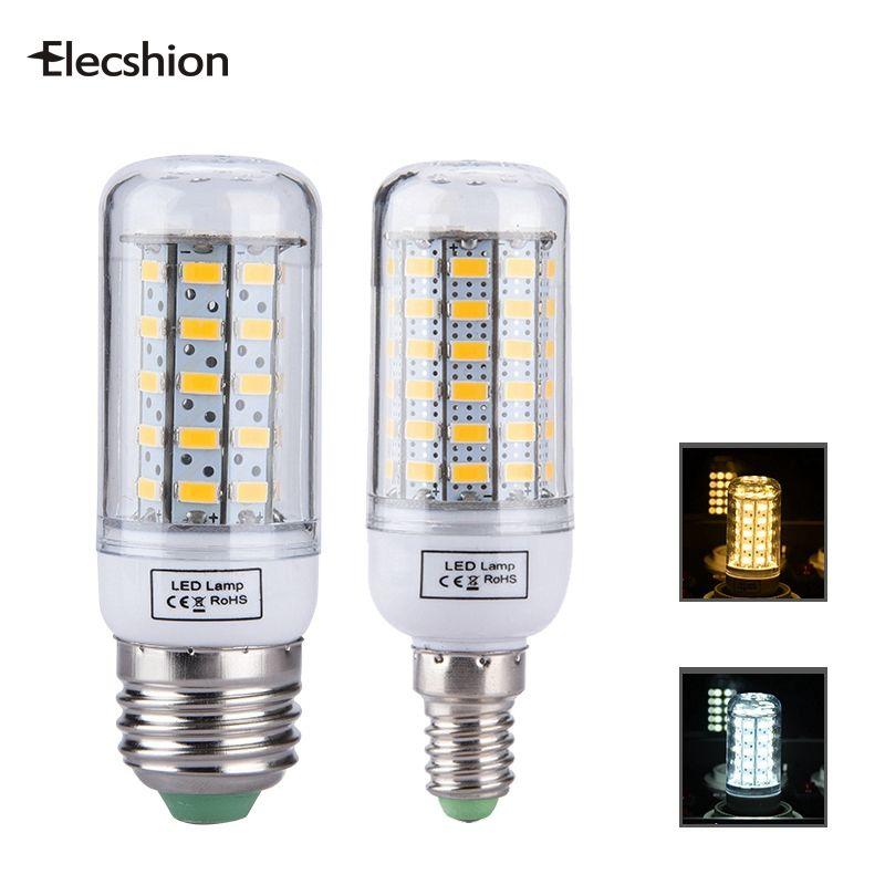 Elecshion Led E27 E14 Ampoules Tubes Lampe Source De Lumiere Ac 220 V Led Mais Bougie Lumieres Pour La Maison Smd 5730 Feux De Jo Tube Lamp Lamp Light Led Bulb